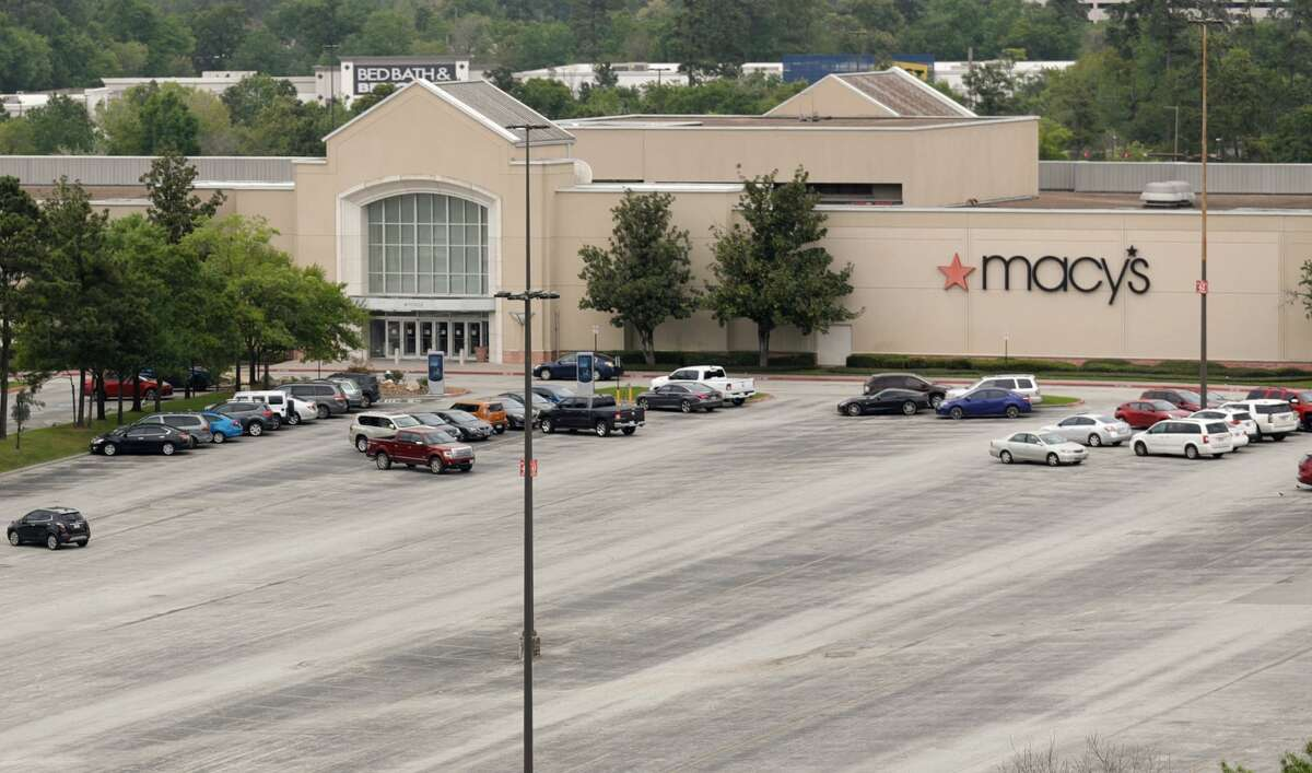 The parking lot in front of Macy's at The Woodlands Mall is seen, Monday, March 16, 2020, in The Woodlands. Owners adjusted the malls hours to to noon - 7:00p.m. Monday thru Saturday and noon to 6:00 p.m. on Sunday due to coronavirus concerns.