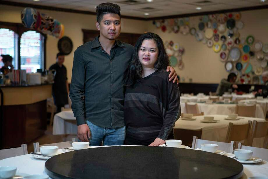 Mala Sichuan Bistro owners Heng Chen and Cori Xiong have watched business at their restaurant steadily drop since the coronavirus scare started. Photo: Mark Mulligan, Houston Chronicle / Staff Photographer / © 2020 Mark Mulligan / Houston Chronicle
