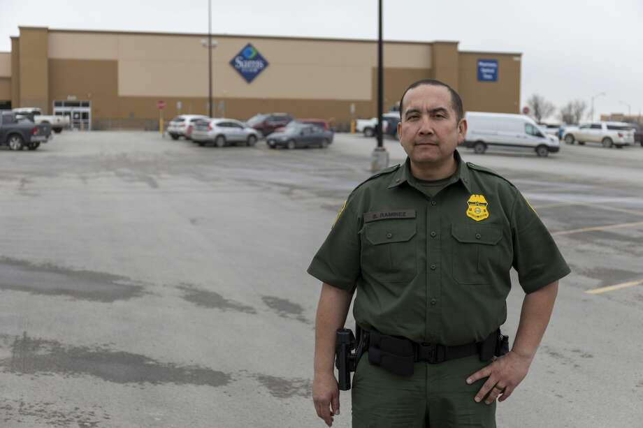 Bernie Ramirez stands outside of the Sam's Club on Monday, March 16, 2020 at 1500 Tradewinds Boulevard. Photo: Jacy Lewis/Reporter-Telegram