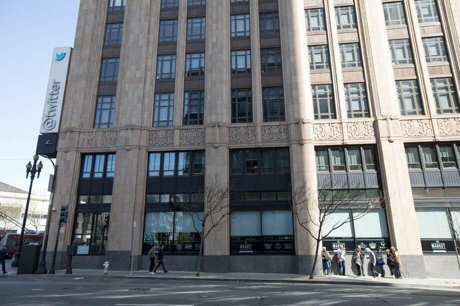 The Twitter Building in San Francisco. Photo: Douglas Zimmerman/SFGate