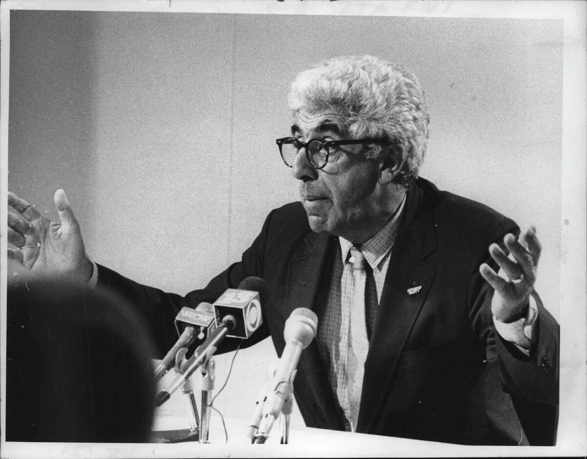 Barry Commoner, Citizens Party candidate, New York. September 16, 1980 (Bud Hewig/Times Union Archive)