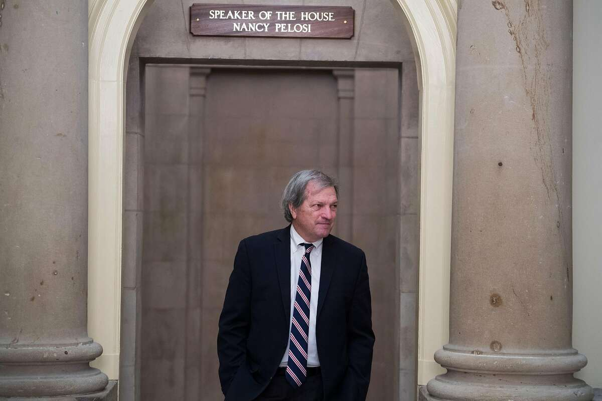 UNITED STATES - SEPTEMBER 27: Rep. Mark DeSaulnier, D-Calif., leaves the office of Speaker of the House Nancy Pelosi, D-Calif., in the Capitol during the last House votes of the week on Friday, September 27, 2019. (Photo By Tom Williams/CQ-Roll Call, Inc via Getty Images)