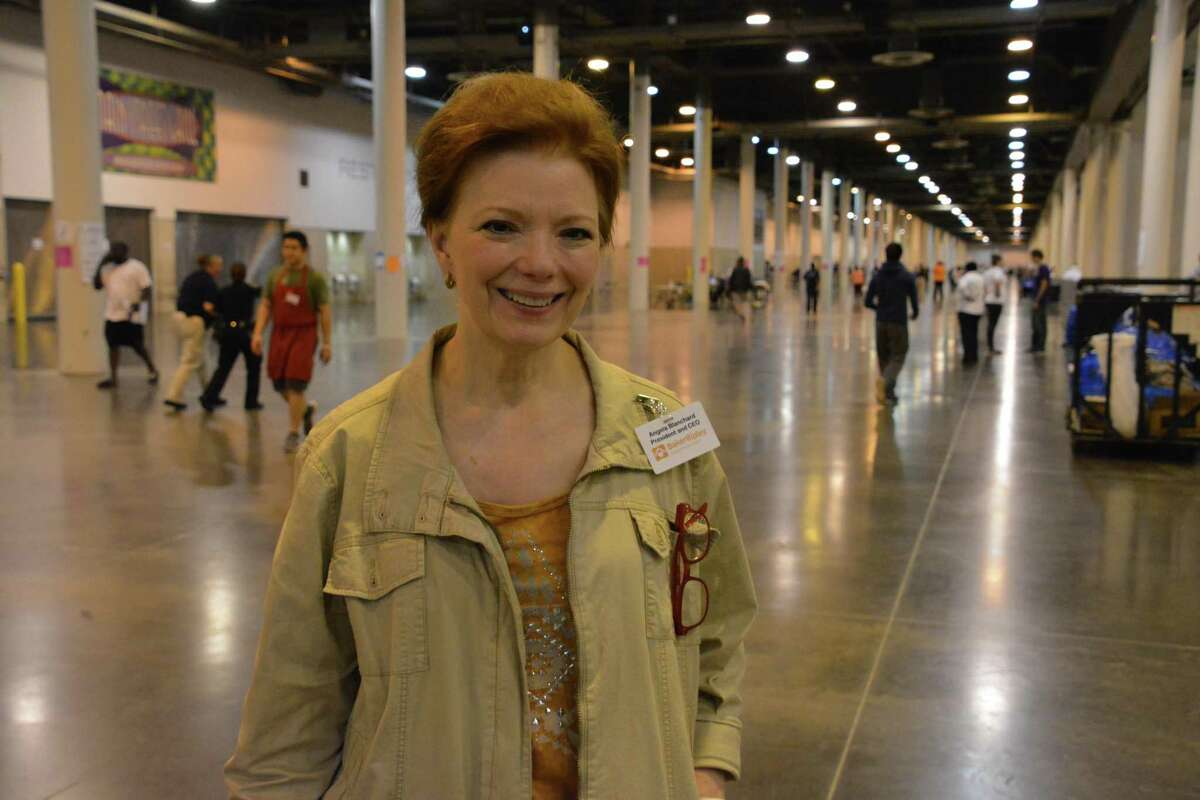 Angela Blanchard, then-president and CEO of BakerRipley, got a post-Harvey shelter up and running at NRG Center in a matter of hours.