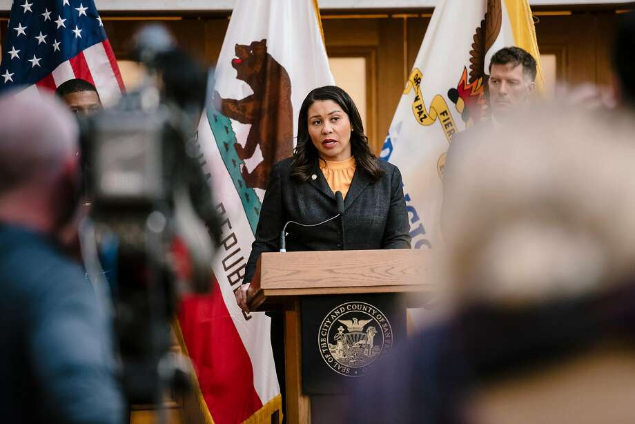 FILE - Mayor London Breed announced new guidelines that will help San Francisco residents ease back into socializing under the Stay Home Order, emphasizing safe ways that residents can see friends and family while keeping the spread of COVID-19 low. Photo: Michael Short / Special To The Chronicle