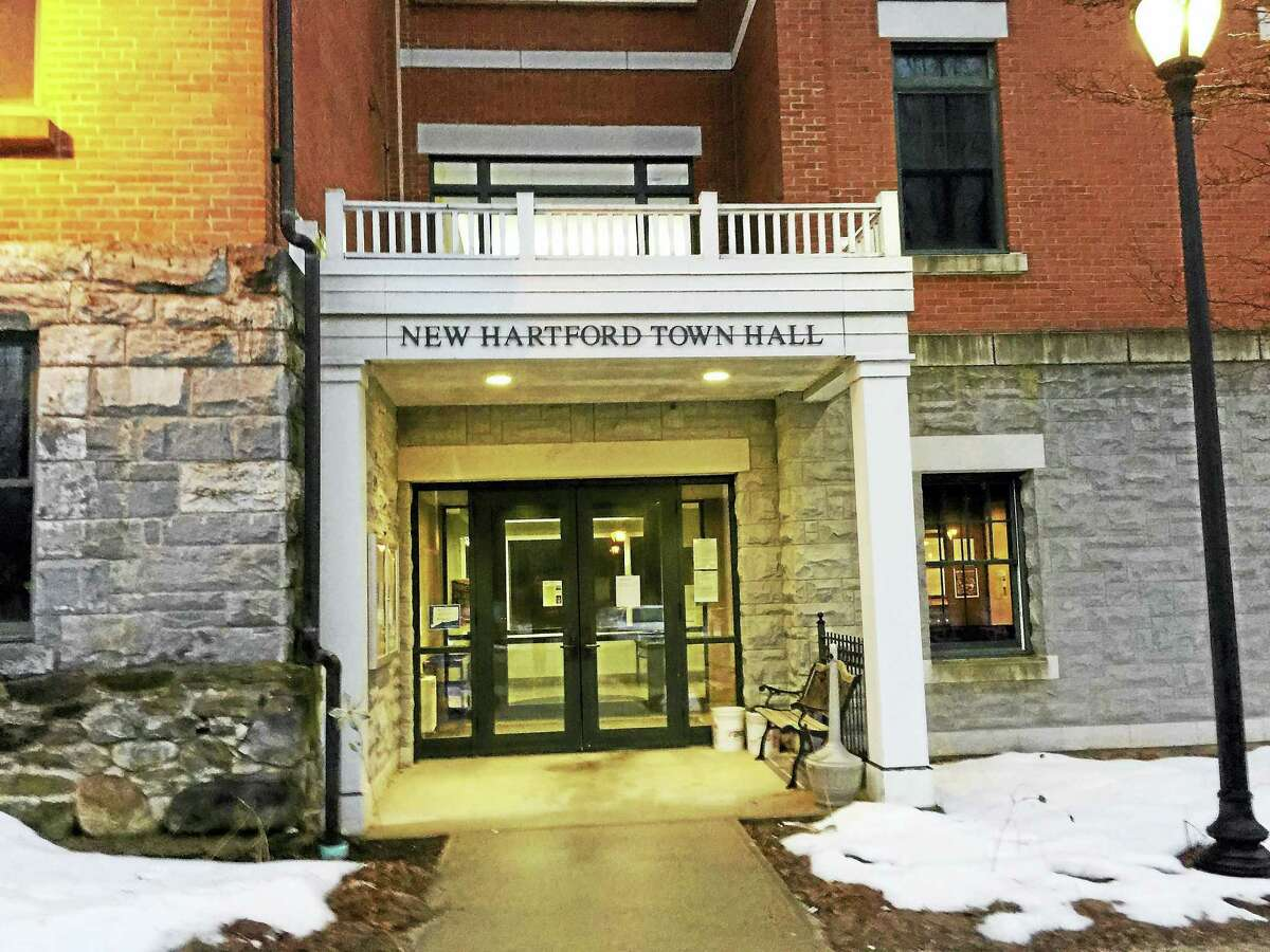 The New Hartford Town Hall is open only by appointment at this time.