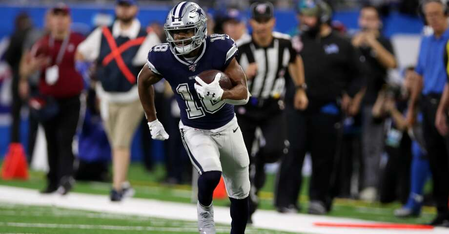 DETROIT, MI - NOVEMBER 17: Randall Cobb #18 of the Dallas Cowboys runs after the catch during the game against the Detroit Lions at Ford Field on November 17, 2019 in Detroit, Michigan. The Cowboys defeated the Lions 35-27. (Photo by Rob Leiter/Getty Images) Photo: Rob Leiter/Getty Images