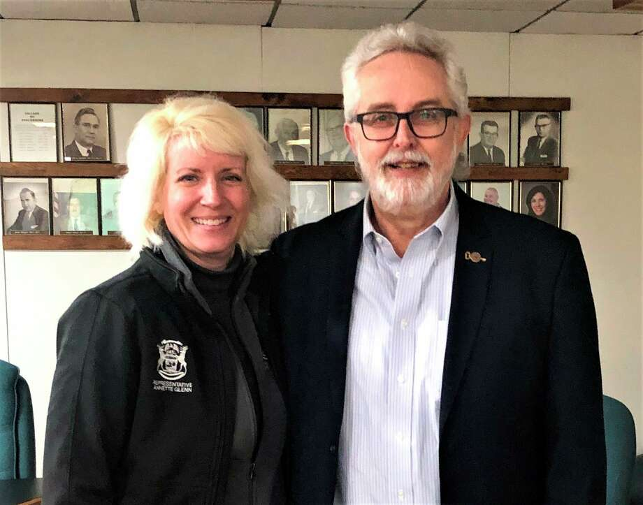 Rep. Annette Glenn, R-Midland is pictured with Bay County Commission Chairman Mike Duranczyk, D-Pinconning. (Photo provided)
