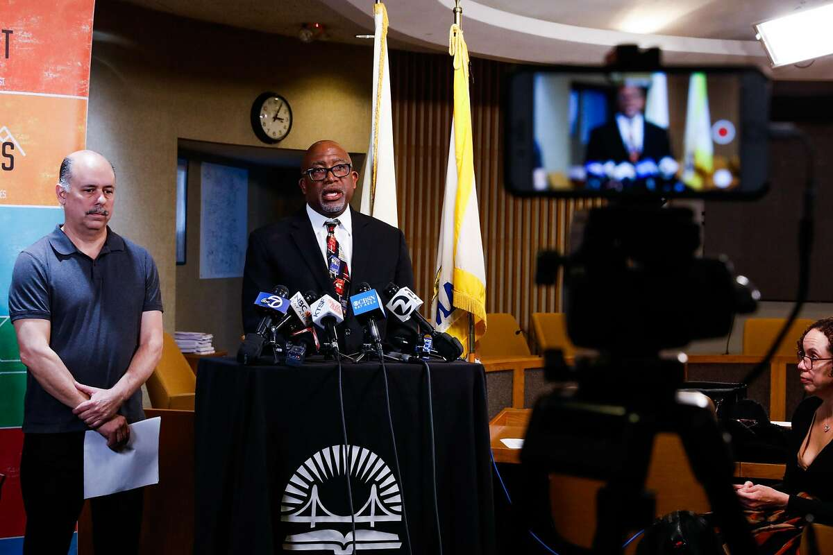 Superintendent of the San Francisco Unified School District Dr. Vincent Matthews announced that all public schools throughout San Francisco would be closing for three weeks as a preventative measure to protect students and families from the coronavirus on Thursday, March 12, 2020 in San Francisco, California.