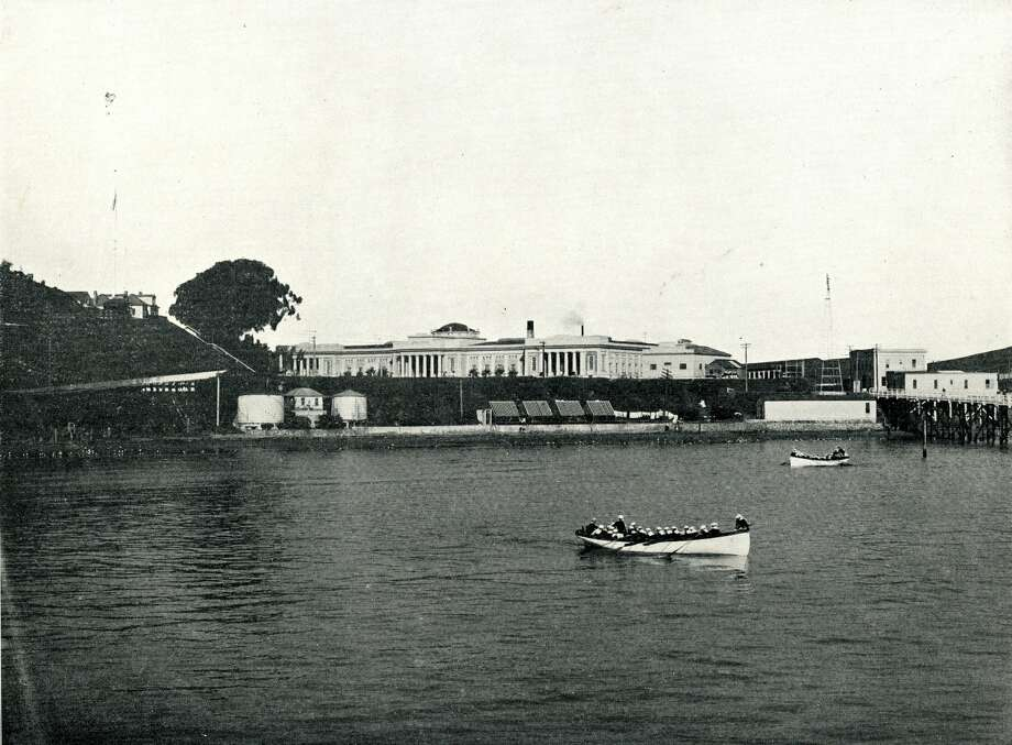 United States Naval Training Station on Yerba Buena Island in the early 1900's. Photo: From The Collection Of Bob Bragm