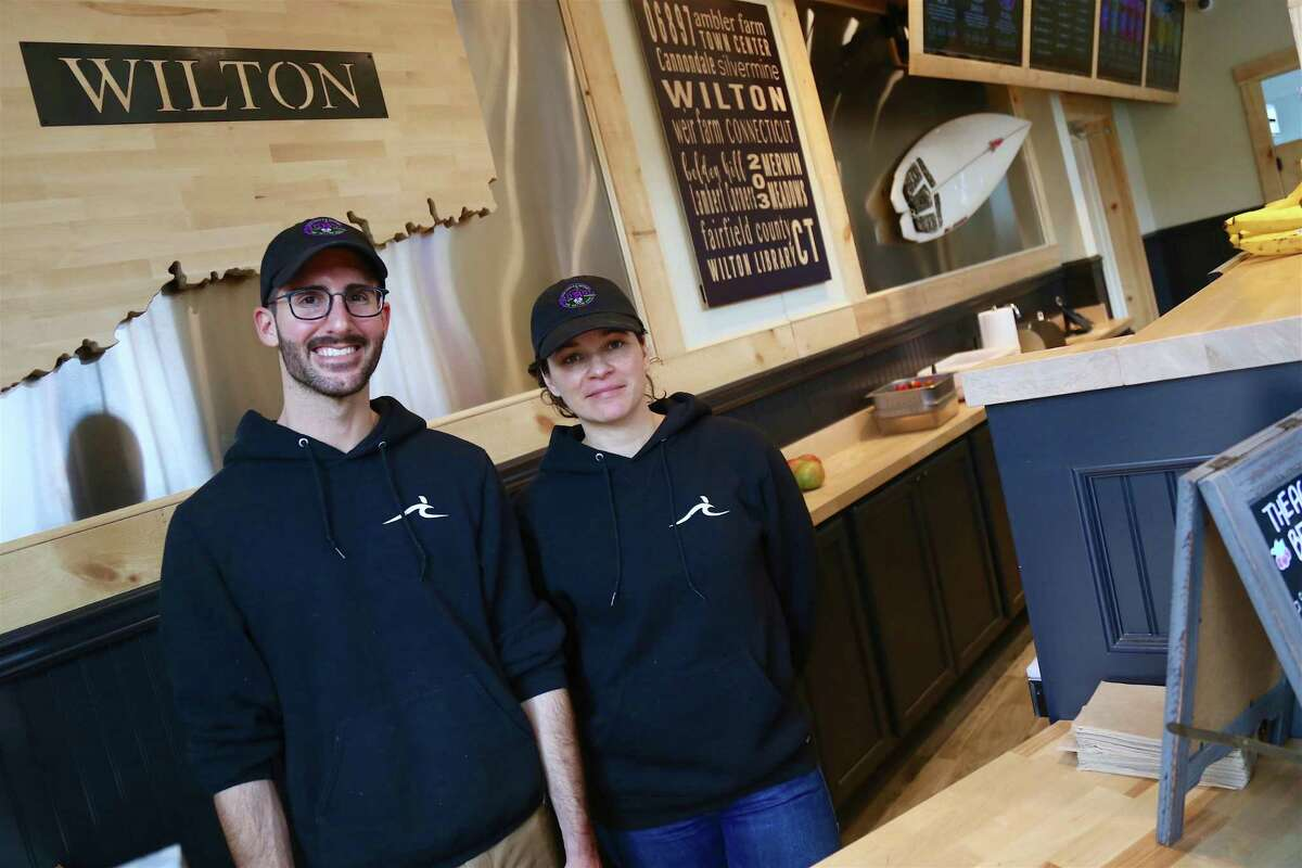 Alex Morrison, manager, and Melissa Ferreira, owner of Sobol of Wilton, are offering curbside service for customers.
