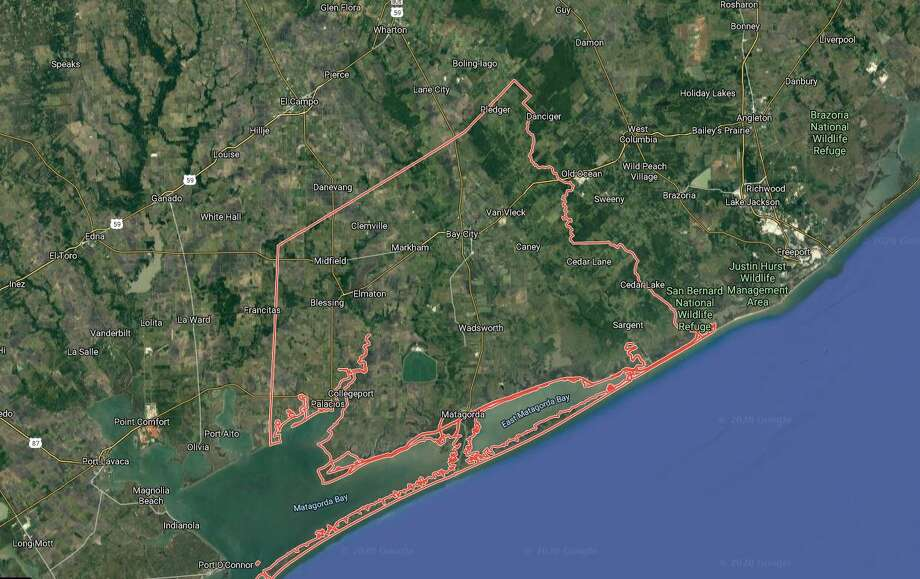 Matagorda County, which includes towns like Bay City, Matagorda and Caney, is the first Texas county to see a coronavirus-related death. Photo: Google Maps/Street View