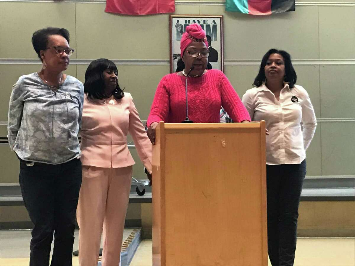 New Haven Paraprofessionals Union President Hyclis Williams on March 9, 2020.