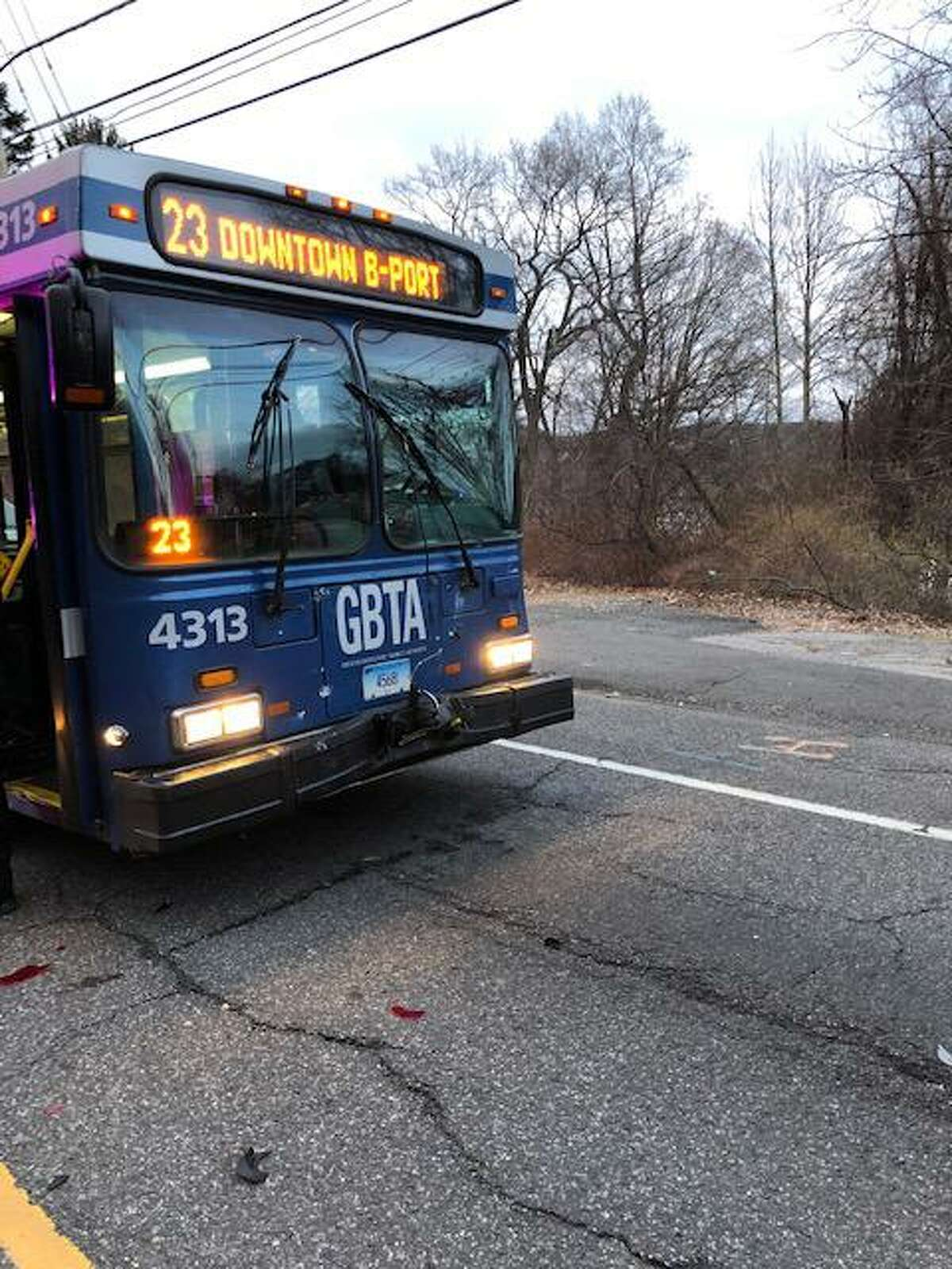 Emergency crews responded to a accident involving a bus and car on River Road March 16.
