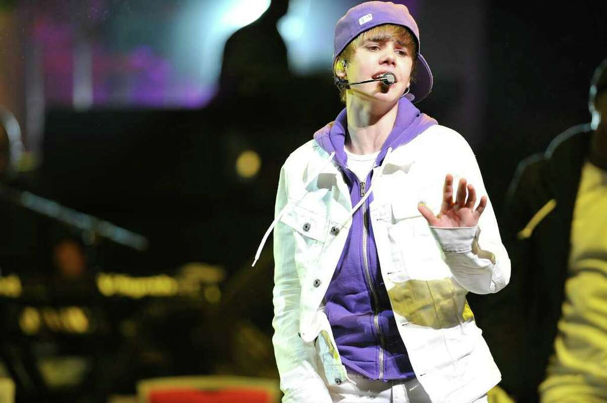 Justin Bieber performs 7:30 p.m. Wednesday at Times Union Center. Here, he performs at the New Look Foundation's World Leadership Awards at Cobb Energy Performing Arts Centre on August 6, 2010 in Atlanta. (Moses Robinson / Getty Images for Usher's New Look Foundation)