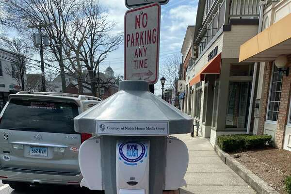 Noble House has added more hand sanitizing stations in downtown Darien.