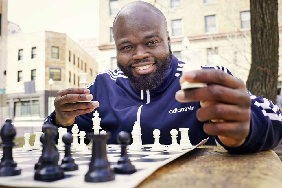Philemon Thomas, the first black chess player in Albany to achieve the level of master, poses for a photo on Monday, March 16, 2020, in Albany, N.Y. (Paul Buckowski/Times Union)