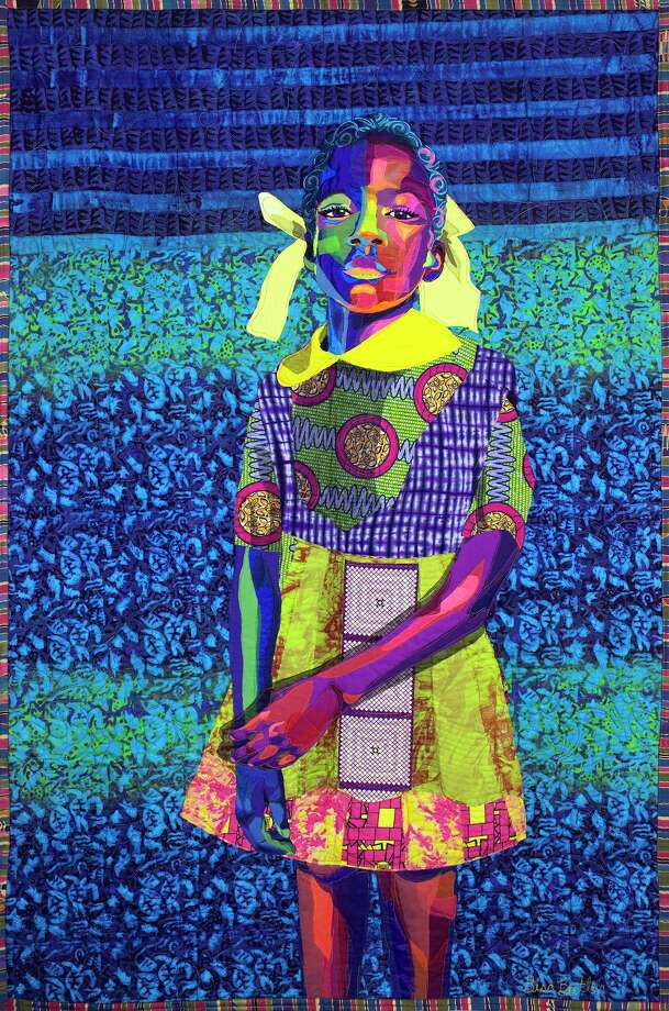"""Bisa Butler is a fiber artist known for depicting African American identity and culture on her vibrant quilts. The Katonah Museum of Art has made her exhibit available virtually. Butler's """"The Princess"""" was made in 2018 and created with cotton, chiffon, lace and satin. Photo: Collection Of Bob And Jane Clark / Contributed Photo"""