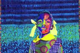 """Bisa Butler is a fiber artist known for depicting African American identity and culture on her vibrant quilts. The Katonah Museum of Art has made her exhibit available virtually. Butler's """"The Princess"""" was made in 2018 and created with cotton, chiffon, lace and satin."""