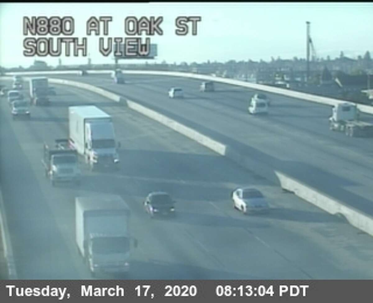 Caltrans traffic cameras show nearly no traffic on Tuesday, March 17, 2019.