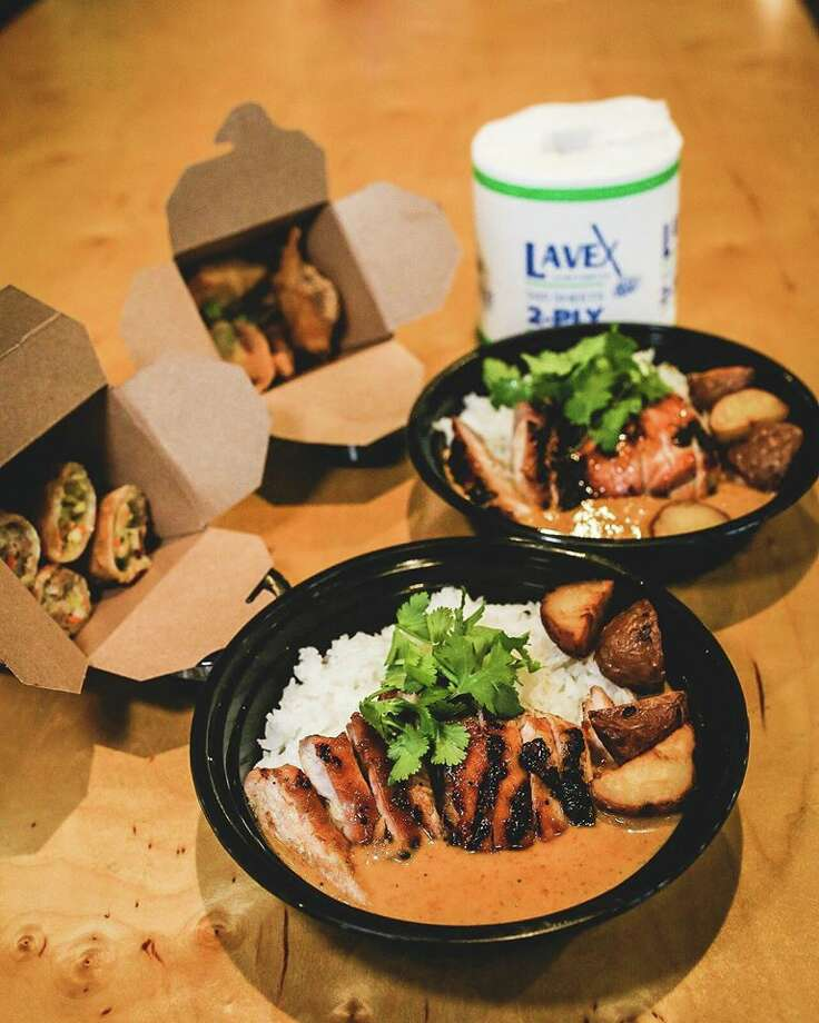 Like many San Antonio restaurants, Pinch Boil House decided to close their dining room and limit business to pick-up or deliveries as the country follows social distancing to prevent the spread of COVID-19. The restaurant has three meal packs available and each option comes with a free roll of toilet paper. Photo: Courtesy, Pinch Boil House