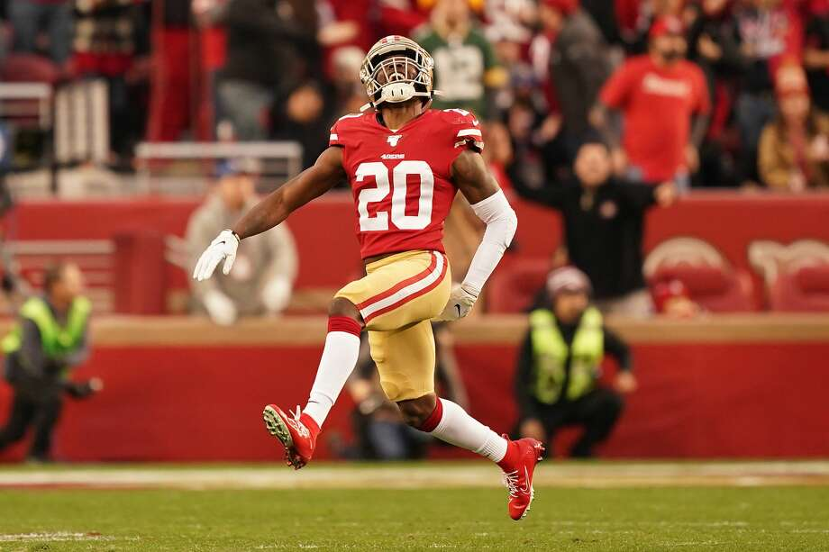 FILE - Jimmie Ward reacts to a play in the first half against the Green Bay Packers during the NFC Championship game at Levi's Stadium on January 19, 2020 in Santa Clara. Ward reportedly has been re-signed by the Niners for $28.5 million over three years. Photo: Thearon W. Henderson/Getty Images