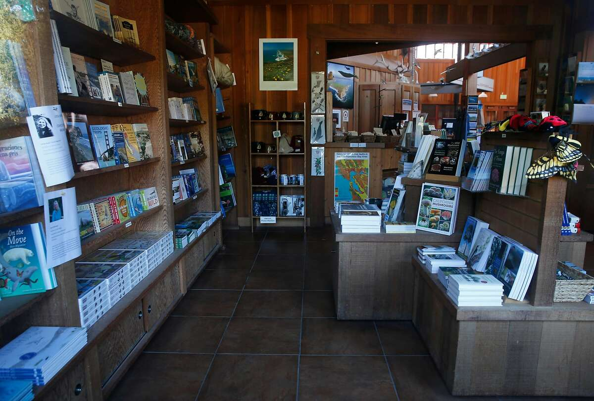The bookstore has merchandise but no customers at the Point Reyes National Seashore visitor center in Olema, Calif. on Wednesday, Jan. 2, 2019. Trails at the national park are open but the visitor center and restrooms remain closed during the ongoing partial government shutdown.