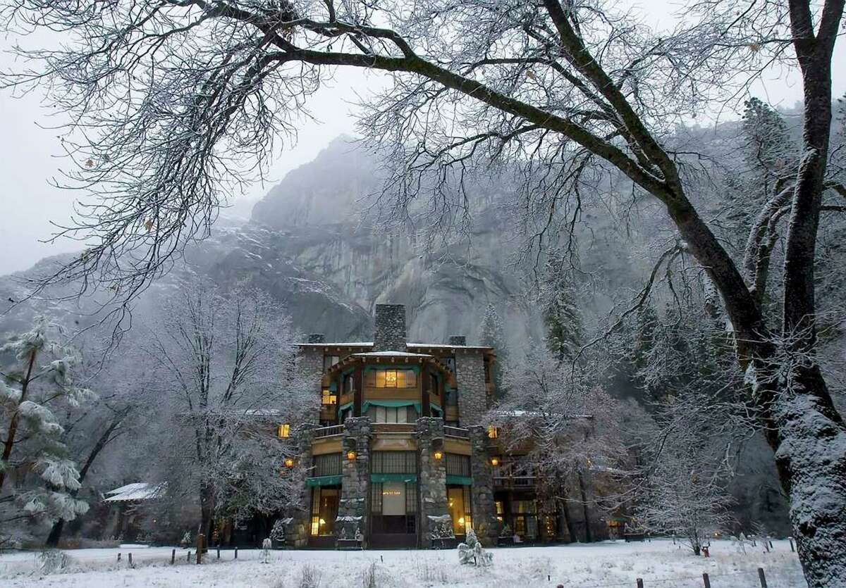 The Ahwahnee Lodge at Yosemite National Park is among the many park amenities being ordered to shut to prevent the spread of the coronavirus.