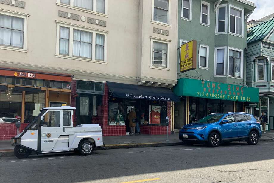Parking meters were being enforced in San Francisco amid a shelter-in-place order on March 17, 2020. Photo: Amy Graff