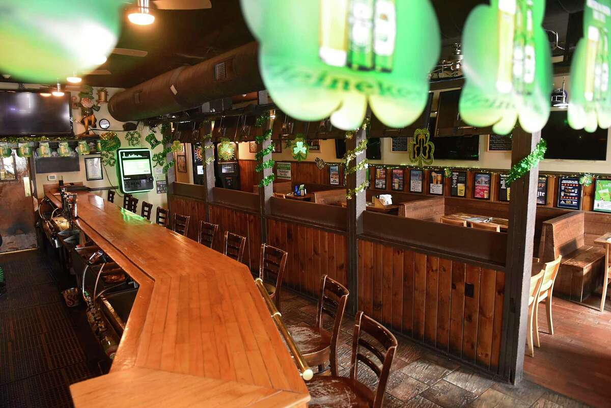 Graney's Bar & Grill is empty on Tuesday, March 17, 2020 in Albany, N.Y. Because of the coronavirus restaurants are only able to do take-out orders at this time. (Lori Van Buren/Times Union)