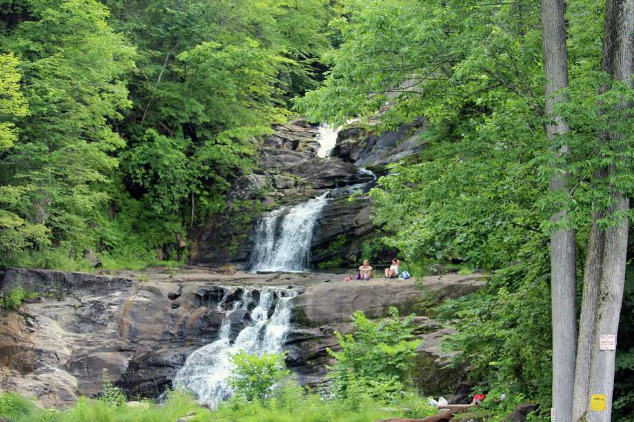 The falls at Kent Falls State Park in Kent in 2017. Photo: Justin Papp / Hearst Connecticut Media / Darien News