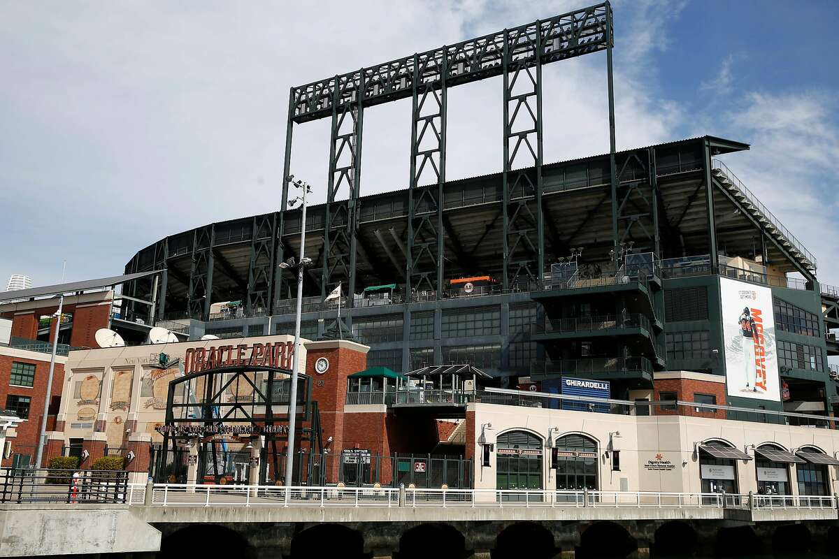 Oracle Park is seen on Tuesday, March 17, 2020 in San Francisco, Calif.