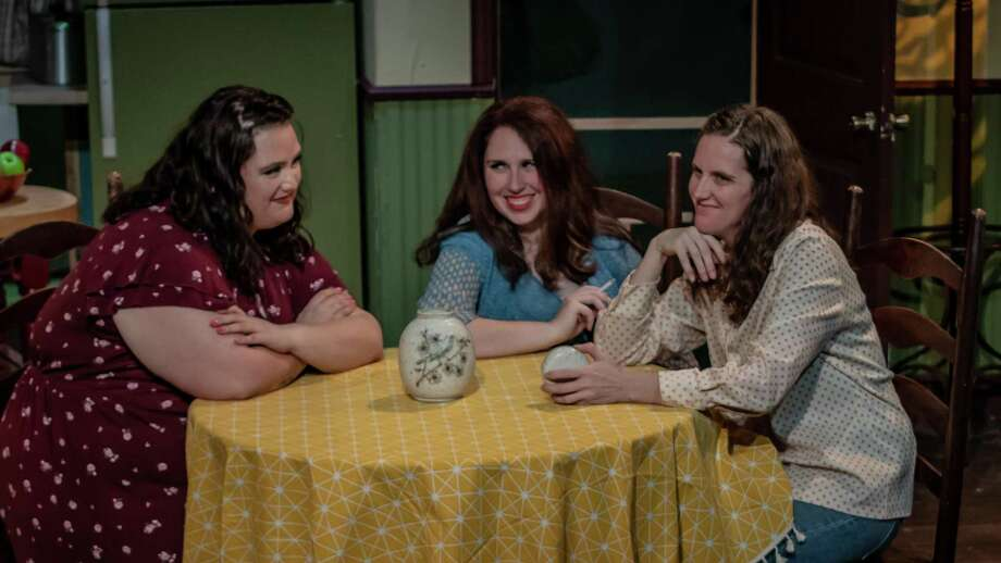 """Karen Rush, left, Eryn Dorsey and Ruth Allynn Anderson portray the the Magrath sisters in Clear Creek Community Theater's production of """"Crimes of the Heart."""" The theater is taking measures to perform the play via streaming after precautions regarding the coronavirus pandemic prevented the production from being staged before an audience. Photo: Courtesy Clear Creek Community Theater / © Ruth Allynn Anderson"""