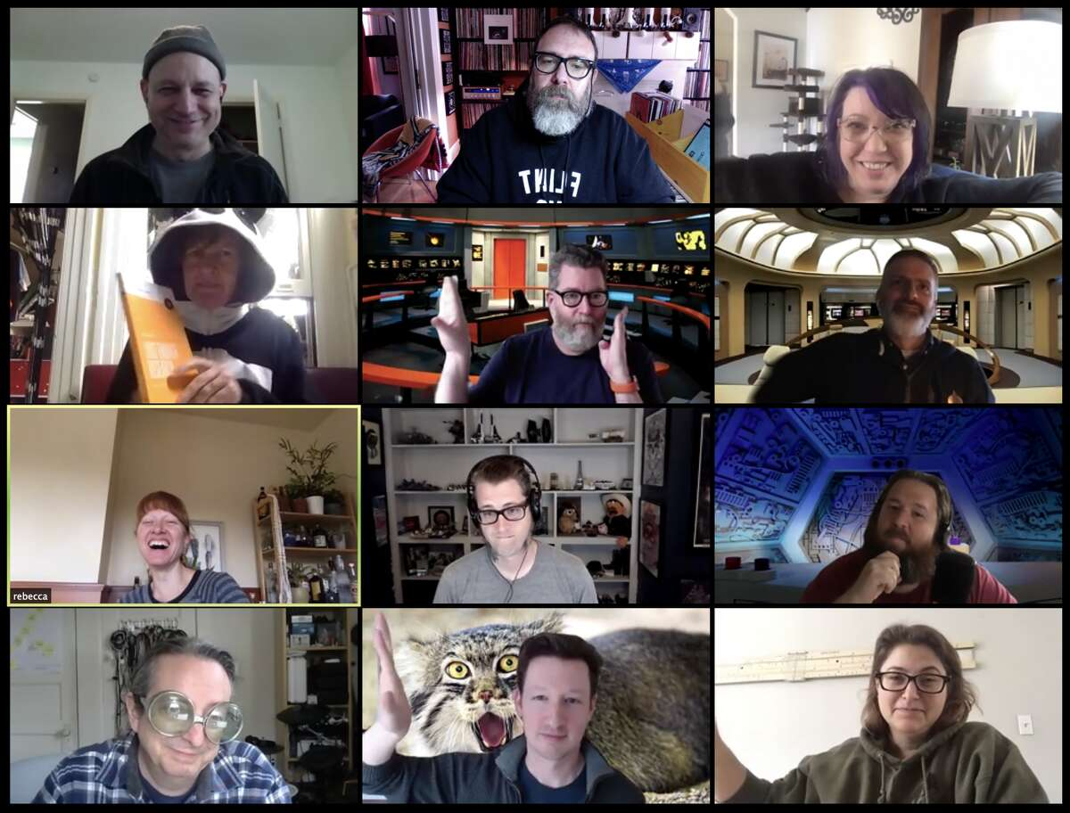 An author hosts a live Q&A session on Zoom for Quarantine Book Club.