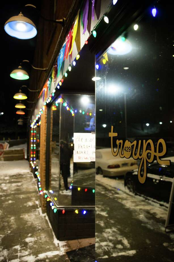 The exterior of Troupe429 in Norwalk, Conn. on Saturday, December 30, 2017. Troupe429 co-founder Casey Fitzpatrick started a petition to call on the state to allow bars to sell bottled liquor following Gov. Ned Lamont's order all bars close until at least April 30 to slow the progression of COVID-19. Photo: Chris Palermo / For Hearst Connecticut Media / Norwalk Hour Freelance