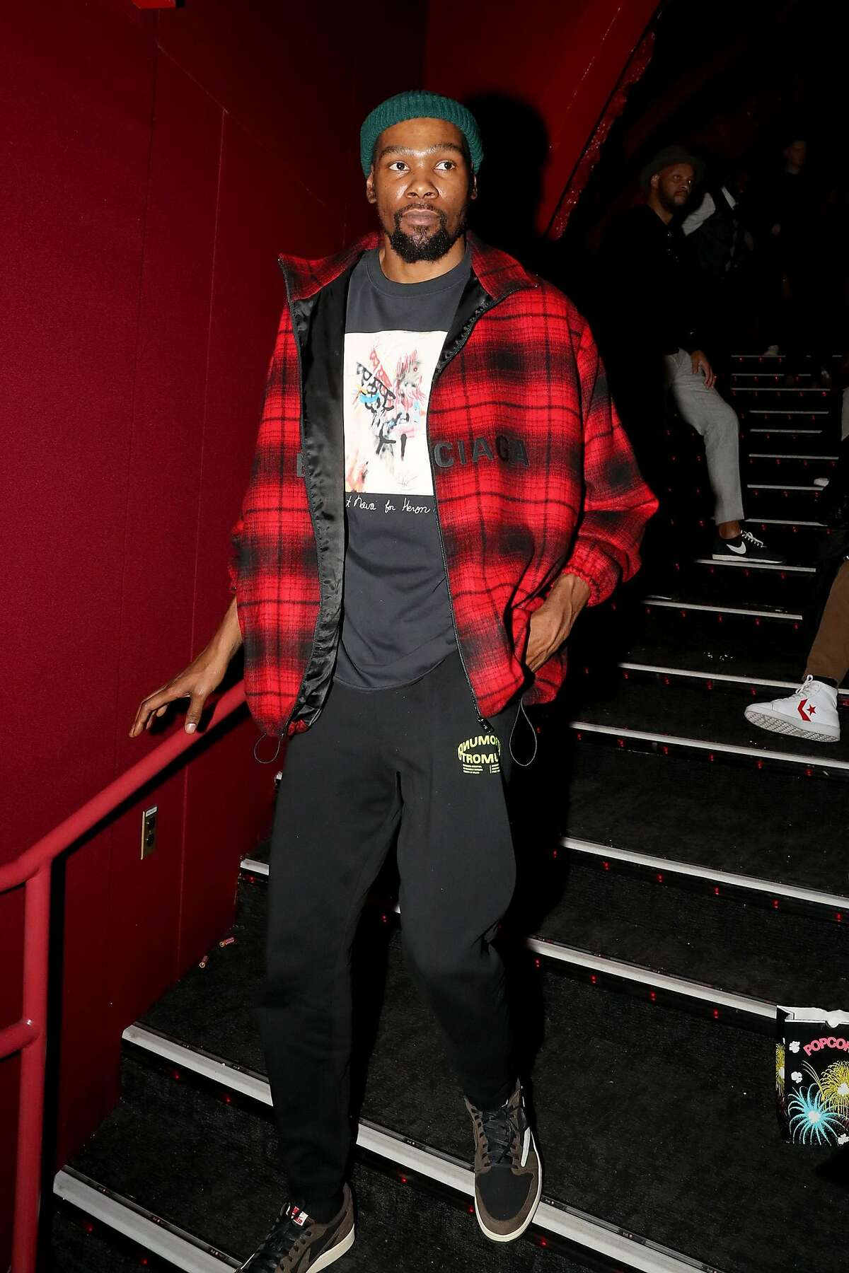 """NEW YORK, NEW YORK - MARCH 05: Kevin Durant attends the premiere of """"A Kid From Coney Island"""" at Brooklyn Academy of Music on March 05, 2020 in New York City. (Photo by Johnny Nunez/Getty Images for 1091)"""