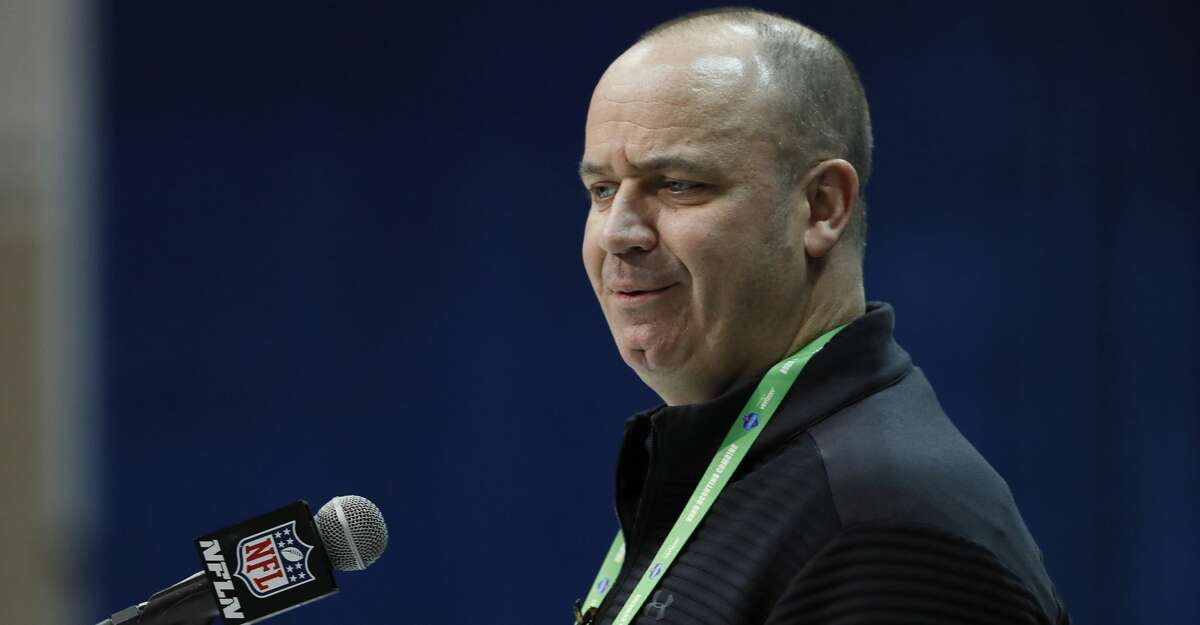 Houston Texans head coach Bill O'Brien speaks during a press conference at the NFL football scouting combine in Indianapolis, Tuesday, Feb. 25, 2020. (AP Photo/Charlie Neibergall)