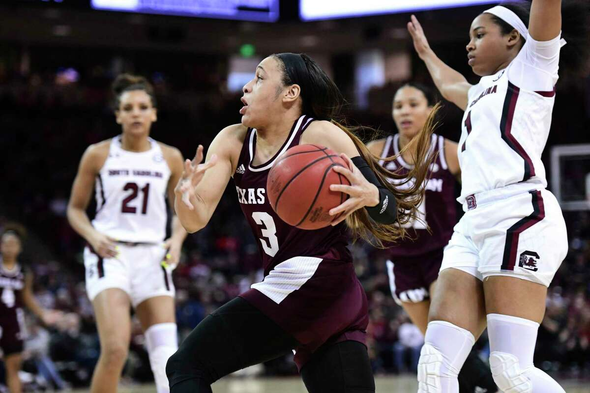 Chennedy Carter, in action against top-ranked South Carolina, could declare early for the WNBA draft and be a top selection. Texas A&M will never know how far she could have taken them in this year's NCAA tournament.