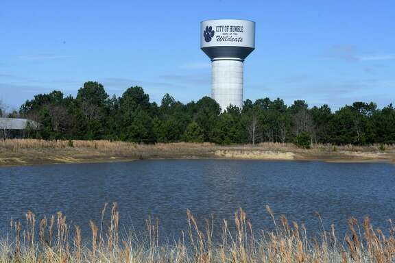 The City of Humble's new water tower, which has a capacity of a million gallons, was set in place on Jan. 11, 2019.