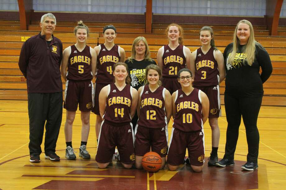 Several members of the Deckerville girls basketball team were named to the North Central Thumb League's Stars Division All-League Team. Addison Williams (4) and Claire Watson (3) were named to the first Team. Ella Watson (5) was named to the Second Team. Karley Kappen (10) and Riley Shutz (14) were honorable mentions. Photo: Courtesy Photo/Mike Gallagher