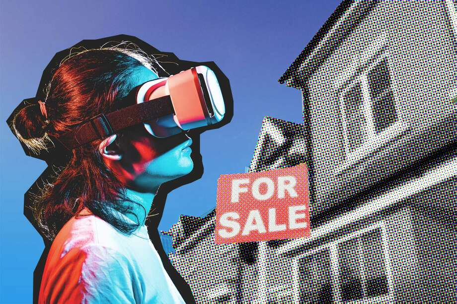 Gregg Lynn, a real estate agent with Sotheby's International Realty, said he's already seen an increase every year in the amount of properties the company lists that include a virtual reality tour. Photo: Photo : Kilito Chan/ Getty, Illustration: Blair Heagerty