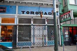 The exterior of Toronado during the shelter-in-place shutdown in San Francisco on March 17, 2020.