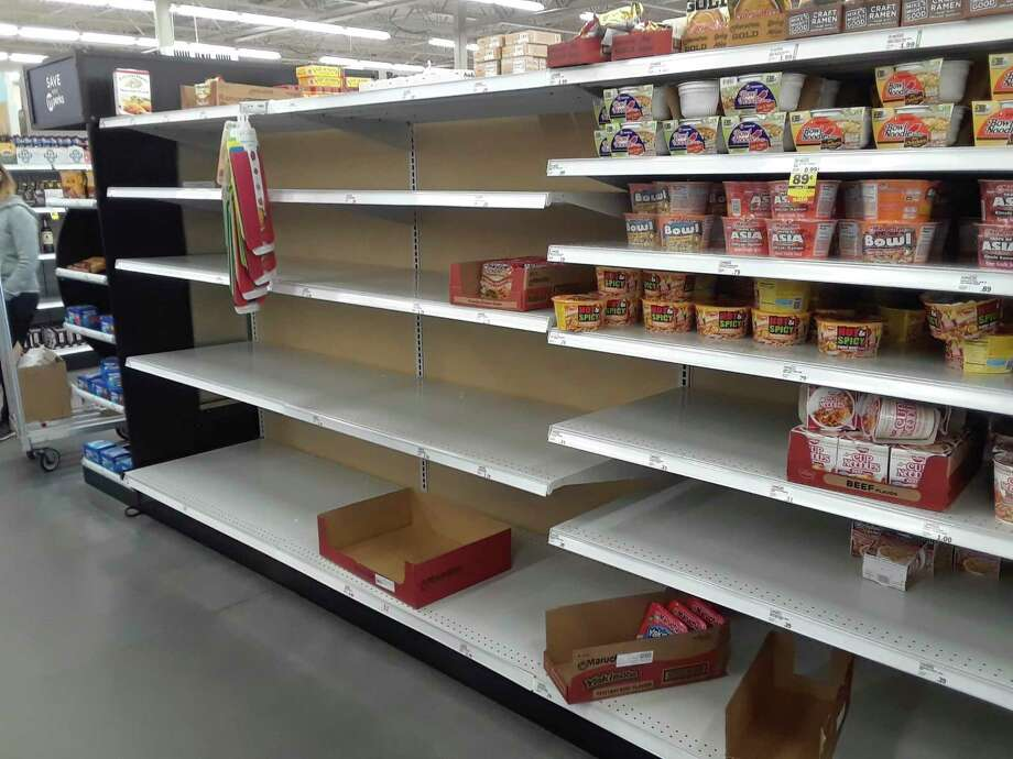 Customers looking to stock up supplies have turned to shelf-stable items like Ramen noodles amid coronavirus concerns. (Courtesy Photo)