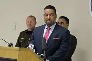 """Fort Bend County District Attorney Brian Middleton speaks during a press conference held Tuesday, March 17. """"This crisis is severe. Anxiety is high and the last thing we need to be worried about is criminal conduct. People need to stay in their homes where they are protected,"""" Middleton said. """"This is a warning to criminals: if you come to our county and you break the law, you will face the harshest penalty allowed by law."""""""
