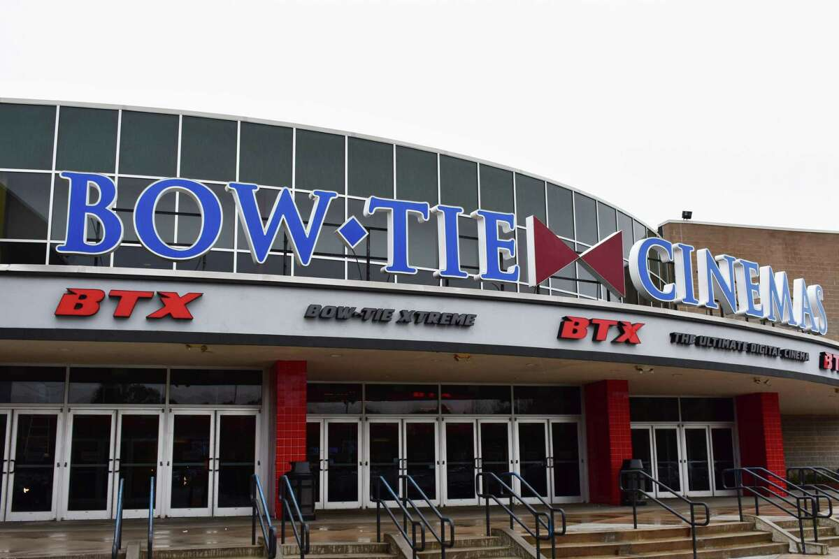 The Bow Tie Cinemas BTX theater at 100 Quarry Street in Trumbull, Conn., in early November 2017. Bow Tie and other movie theaters are shut down due to the coronavirus outbreak.
