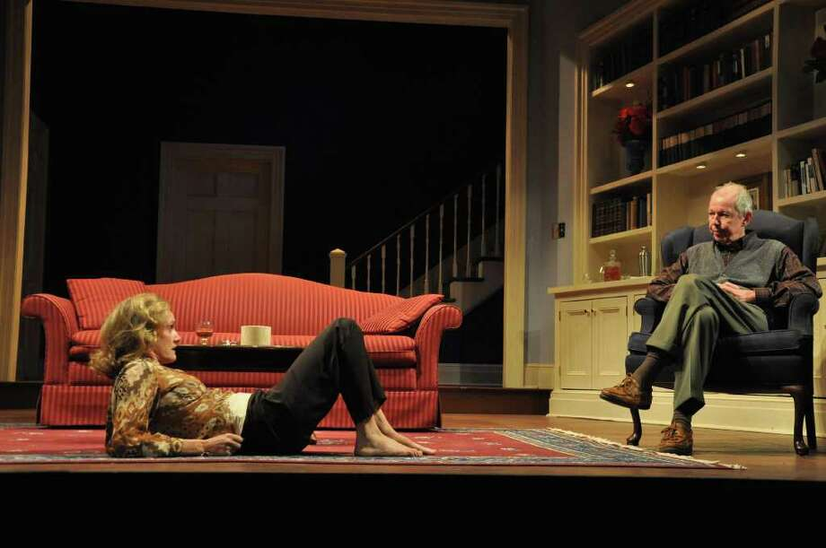 "Lisa Emery and Jonathan Hogan in Berkshire Theatre Festival's production of ""A Delicate Balance,"" by Edward Albee. (Jaime Davidson)"