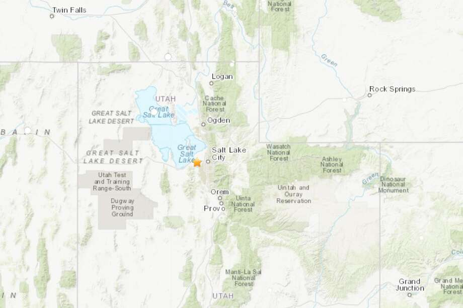 A magnitude-5.7 earthquake gave the Salt Lake City area a strong jolt Wednesday morning. Photo: USGS