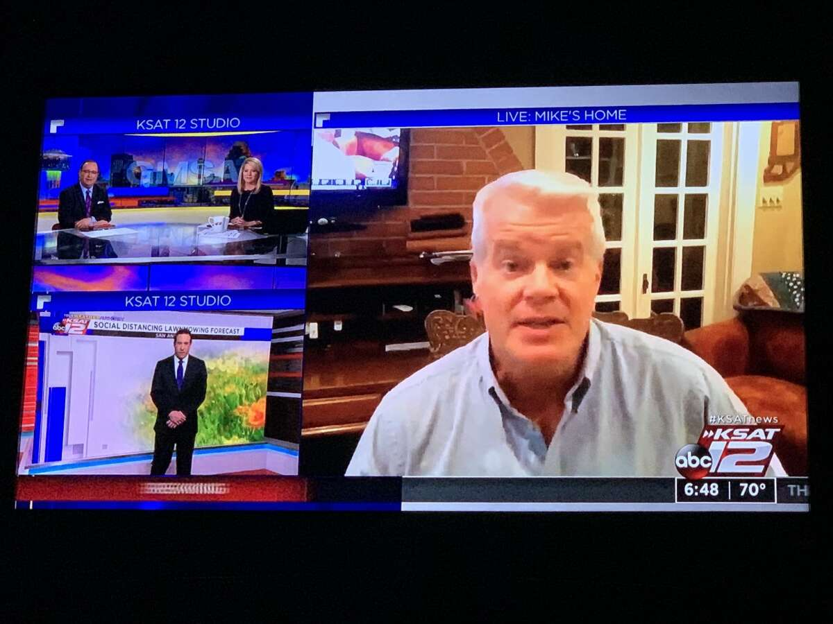 KSAT-12 meteorologist Mike Osterhage told co-anchors Leslie Mouton and Mark Austin and Justin Horne that he and his family will be in self-quarantine for the next 14 days.