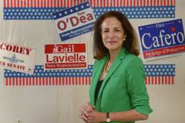 State Rep. Gail Lavielle, a Republican representing the 143rd House District, at Wilton Republican headquarters in 2018. She will not seek reelection.