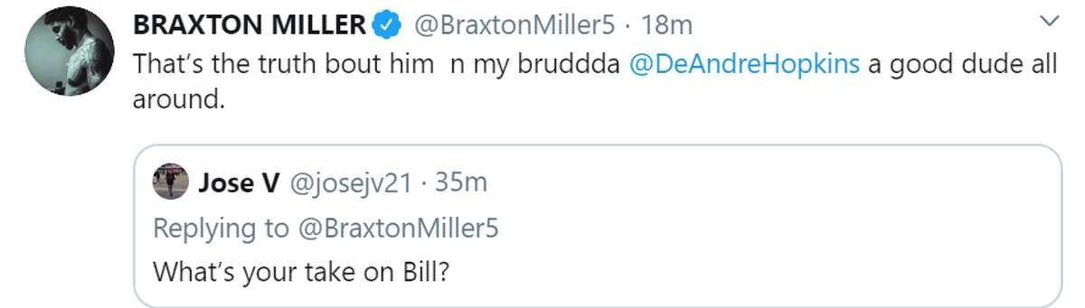 Former Texans receiver Braxton Miller.