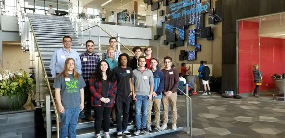 Edwardsville High School Hackathon team at the World Wide Technolgy competition in St. Louis. Photo: For The Intelligencer